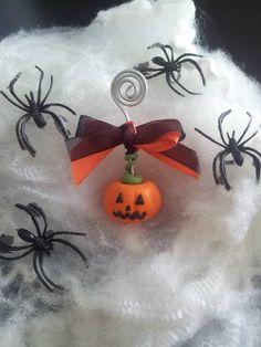 Zucca porta foto Halloween di FimoILY su Etsy