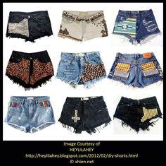 Pantalones cortos de mezclilla de bricolaje