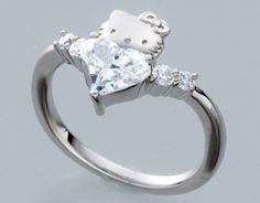 Hello Kitty Wedding Rings | Hello-Kitty-x-Swarovski-Elements-Curve-Heart-Wedding-Ring-Silver-Japan ...