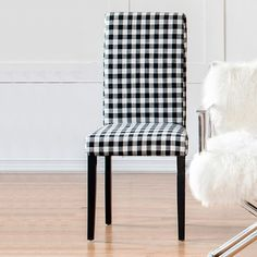 Country Check Dining Chair