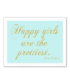 Look at this #zulilyfind! 'Happy Girl' Wall Art #zulilyfinds