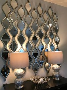You'll love watching our Silver Teardrop Panel Mirror glisten in the light. Its silver finish and teardrop panel design, adds maximum shine to your home! Glam Living Room, Living Room Decor Cozy, Room Wall Decor, Silver Living Room, Dining Room Mirror Wall, Dining Room Walls, Hallway Decorating, Entryway Decor, Foyer