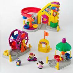 Fisher-Price Little People Surprise Sounds Fun Park & Ferris Wheel Playset