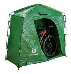 The YardStash IV: Heavy Duty Space Saving Outdoor Storage Shed Tent - Outdoor Storage - Ideas of Outdoor Storage Bicycle Storage Shed, Portable Storage Sheds, Outdoor Bike Storage, Pool Storage, Garden Tool Storage, Shed Storage, Bike Storage Solutions, Storage Ideas, Online Shopping Usa