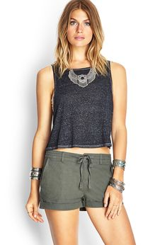 Cuffed Twill Utility Shorts | FOREVER21 #SummerForever