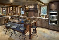 16 Lovely Kitchen Interiors Designed In The Rustic Style