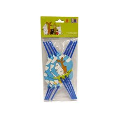 Set of 8 Moomin Drinking Straws. Ideal for the birthday party of your children !