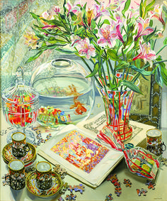 Andersen's Fairy Tales, 1999 by Janet Fish on Curiator, the world's biggest collaborative art collection. Pretty Art, Cute Art, Art Inspo, Bel Art, Art Du Collage, Art Mignon, Photocollage, Art Et Illustration, Illustrations