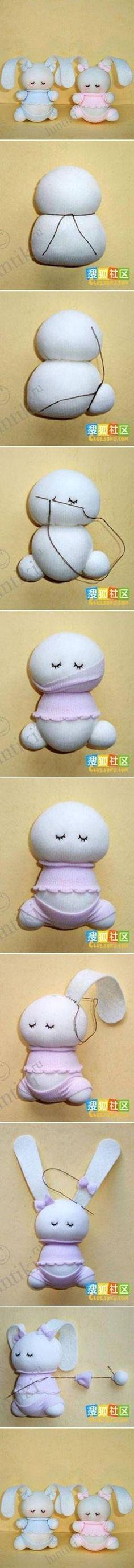 DIY Adorable Sock Bunny by TamidP
