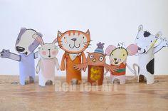 Poppy Cat Artigianato Loo Rotolo Puppets