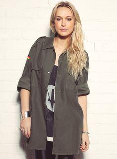 Shop  Women's Phix Vintage Renewal Military Shirt Green. Buy retro & indie fashion at Phix Clothing.