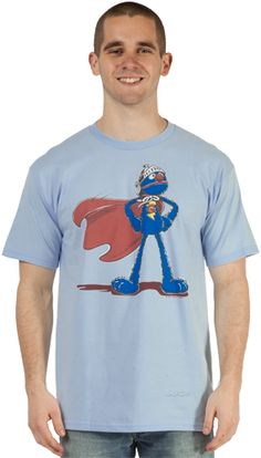 Sesame Street Super Grover T-Shirt! little brother wants this, so funny...