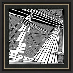 Dynamic Black And White Artwork Framed Print featuring the painting Re-revelations by Douglas Christian Larsen