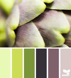 artichoke tones by Design Seeds Colour Pallette, Colour Schemes, Color Combos, Purple Palette, Color Patterns, Design Seeds, World Of Color, Color Of Life, Colour Board