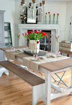 dining room picnic table | a glance into my home | Pinterest ...
