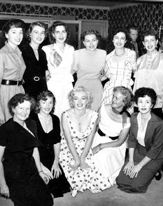 """~MARILYN MONROE~ 1953 Miss America event held in Atlantic City- Marilyn was asked to leave after leaning out (showing """"too much"""" clevage) at the parade being held there."""