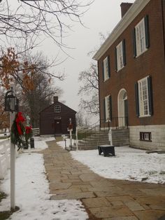 Winter at Shaker Village; Pleasant Hill, KY (Trustee's Office)