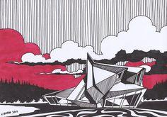 Architecture Concept Drawings, Architecture Sketchbook, Futuristic Architecture, Art And Architecture, Sketches Arquitectura, Architect Drawing, Interior Design Sketches, Renaissance Architecture, Conceptual Design
