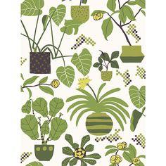 Marimekko Volume 4 Ikkunaprinssi x Floral and Botanical Wallpaper Botanical Wallpaper, Botanical Prints, Marimekko Wallpaper, Contemporary Wallpaper, Contemporary Design, Interior Design Companies, Room Wallpaper, Fun Prints, Graphic