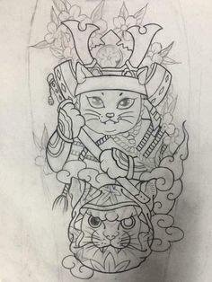 Japanese Tiger Tattoo, Japanese Flower Tattoo, Japanese Tattoo Designs, Japanese Sleeve Tattoos, Avatar Tattoo, Tattoo L, Cover Tattoo, Daruma Doll Tattoo, Lucky Cat Tattoo