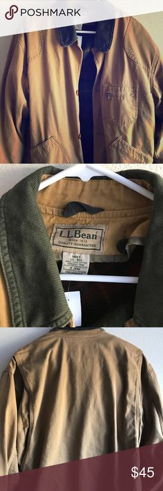 "L.L.Bean Work Jacket w/corduroy collar ❗️❗️BUY TWO GET ONE FREE SALE ❗️❗️ L.L. Bean Twill work jacket with corduroy collar Slanted pockets Lined with thick plaid flannel Heavy Great quality  Great condition  Size Large  Chest - 24"" across Length - 30"" Sleeve - 34""  #kingcozi #aesthetic #fashion #style #streetwear #vintage #vintagestreetwear #90svintage #cozy #mensfashion #womensfashion #menswear #streetstyle #lifestyle #colors #sportswear #bodypositive #cybermonday #blackfriday L.L. Bean…"