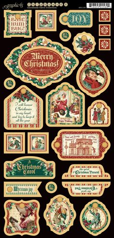Graphic 45 - A Christmas Carol Collection - Decorative Chipboard,$5.99