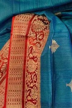 From the Tussar Banarasi collection of Coloroso Weaves Handloom Saree, Silk Sarees, Saris, Indian Bollywood, Bollywood Fashion, Traditional Sarees, Traditional Dresses, Ethnic Fashion, Indian Fashion
