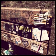 Kurt Cobain Memorial Bench, Viretta Park, Seattle, WA.