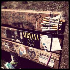 Kurt Cobain Memorial Bench, Viretta Park, Seattle, WA.