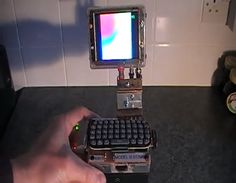 Guy Creates Sick Raspberry Pi Palm Top Computer #technology