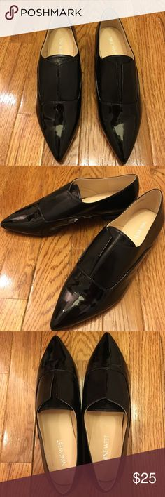 """Nine West pointed toe black flat, never worn Men's wear style """"Treasure"""" pointed toe flat from Nine West - never worn. 3/4"""" heel. Cushioned footbed. Nine West Shoes Flats & Loafers"""