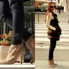 Wearing high heels and a fur coat Vistiendo tacones y un abrigo de piel sin mangas, perfecto para los días de Otoño  #beautiful #fur #love #shoes #photooftheday #cute #fashion #lifestyle #details #blog #fashionblog #fashionbloggert #russia #good #girl #me #look #outfit #trend #follow #instagood #instalike #instamood #eveofstyle #chile #barcelona #italy #chic #style #fall
