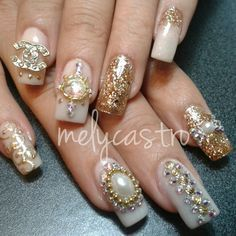 uñas decoradas con piedras - Google Search