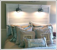 unique headboard ideas...at some point I am going to seriously have to get a headboard and I love this