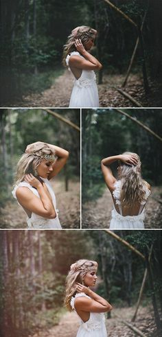 For all the Boho brides out there. Gowns, veils, and hairpieces: Grace Loves Lace / Photography: James Frost retrato - retratos femininos - ensaio feminino - ensaio externo - fotografia - ensaio fotográfico - book - wedding - casamento - boho Boho Bride, Boho Wedding, Wedding Veils, Wedding Ideas, Senior Photography, Portrait Photography, Woods Photography, Bridal Photography, Moda Barcelona