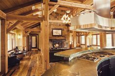 Timber Frame Home constructed by Ruebl Builders LLC. of East Troy WI.