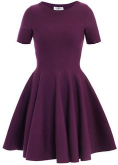 Yves Saint Laurent Skater skirt stretch-wool dress
