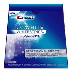 Crest 3D White Luxe Whitestrips Professional Effects - Teeth Whitening Kit 20 Treatments (packaging may vary) in Pakistan | online shopping ...