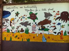 Mural feito pelos alunos do Ensino Fundamental - Laranjeiras - Dezembro de 2012