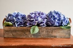 Tabletop Flower Trough Centerpiece