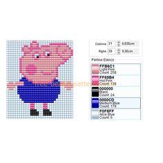 peppa pig hama bead patterns - Google Search