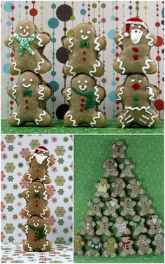 Why, it's a veritable army of gingerbread macaron men. And those in exercise gear. And that rainbow scarf. Find the recipe HERE at Craftstorming. Christmas Food Treats, Christmas Goodies, Christmas Baking, Christmas Themes, Christmas Stuff, Make A Gingerbread House, Gingerbread Men, Christmas Gingerbread, Magical Christmas