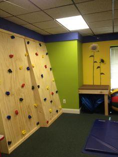 OMG sensory room climbing wall