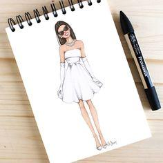 zeichnen Style of Brush by Gizem Kazancigil gizem kazancigil (Gizem Kazancıgil) Fashion Illustration Sketches, Fashion Sketchbook, Illustration Girl, Fashion Sketches, Sketchbook Ideas, Fashion Drawing Dresses, Fashion Art, Fashion Outfits, Fashion Design Drawings
