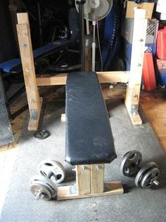 Homemade Weight Lifting Bench. Homemade weight lifting bench with a unique two piece design.