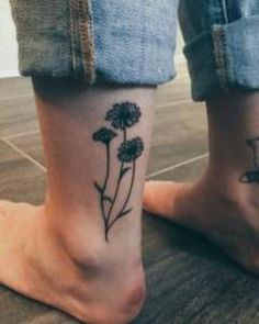 23 Ideas For Tattoo Ankle Sunflower Tat #tattoo