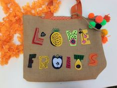 COLLECTION : LUSCIOUS ITEM 1/1 : Fruite love Jucy fuity Jute Tote Beach Bag Perfect for any summer outing, elegantly designed jute tote . Hand embroidered with bold bright flowers . This is a very unique , stylish contemporary classic jute tote bag for the spring/summer/autumn season. Make a Jute Tote Bags, Beach Tote Bags, Reusable Tote Bags, Summer Fruit, Spring Summer, Contemporary Classic, Bright Flowers, Boho, Fall Season