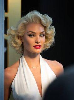 Celebridades- A atriz Candice Swanepoel se veste de Marilyn-Monroe (2)