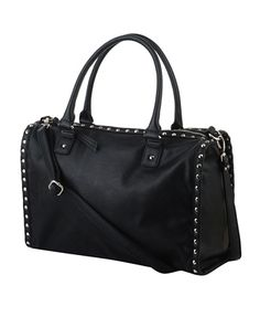 Studded Boston Bag | FOREVER21 $34.80. - The black version for a more classic look.
