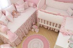 decoracao quarto bebe enxoval floral